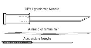 comparing needle size